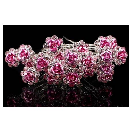 Vlásenky - růžové kytičky