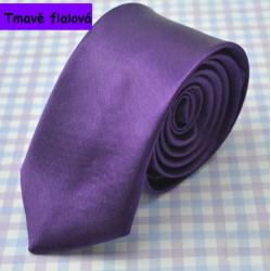 Pánská kravata - tmavě fialová