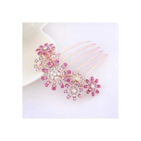 cf8398f4779 Ozdobný hřebínek do vlasů - růžový - LUMA Style