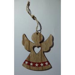 Dřevěný andílek