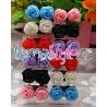Naušnice - růžičky různých barev