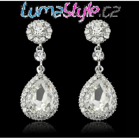 Luxusní štrasové naušnice - LUMA Style f3f04c7dc0b