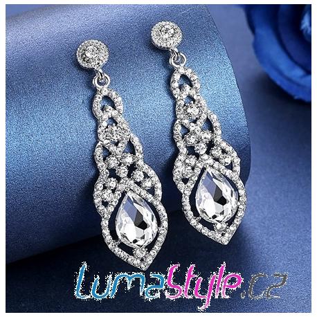 Elegantní štrasové naušnice - LUMA Style 7900a5bdff9