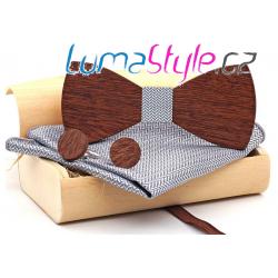 Dřevěný set - šedý