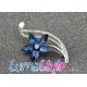 Brož - modrá květina