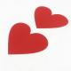 Stírací samolepky - srdce