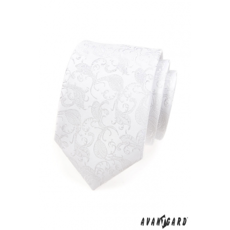 Pánská kravata - bílá