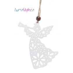 Anděl troubící s hvězdičkami - závěs
