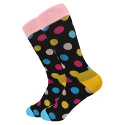 Pánské ponožky - černé - puntík