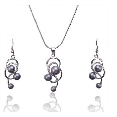 Sada šperků s perličkou ve tvaru slzičky